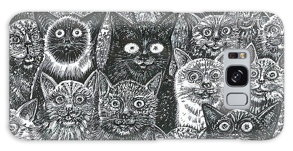 Cats Eyes Galaxy Case by Giovanni Caputo