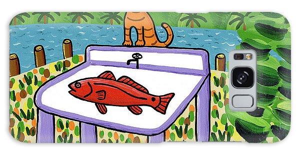 Cat's Fish - Cedar Key Galaxy Case