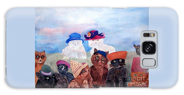 Cats In Hats Galaxy Case