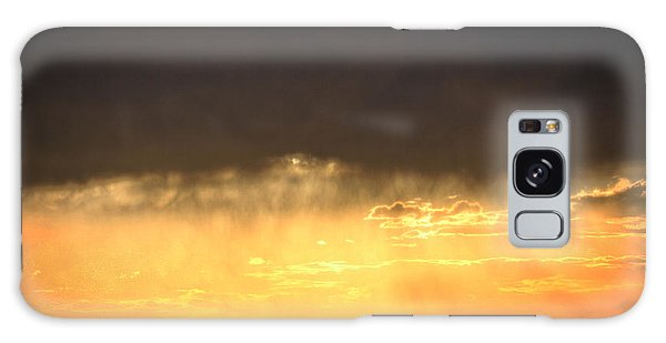 Cattle Fence At Sunset Galaxy Case