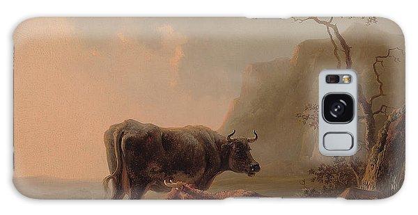 Cow Galaxy S8 Case - Cattle In An Italianate Landscape by Jacob van Strij