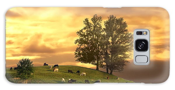 Cattle On A Hill Galaxy Case by Randall Branham
