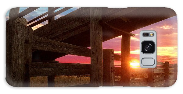 Cattle Pens Galaxy Case by Rod Seel