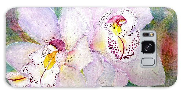 Cattleya Orchid Blue Galaxy Case