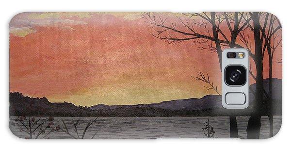 Caucomgomoc Lake Sunset In Maine Galaxy Case