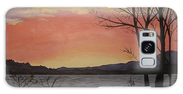 Caucomgomoc Lake Sunset In Maine Galaxy Case