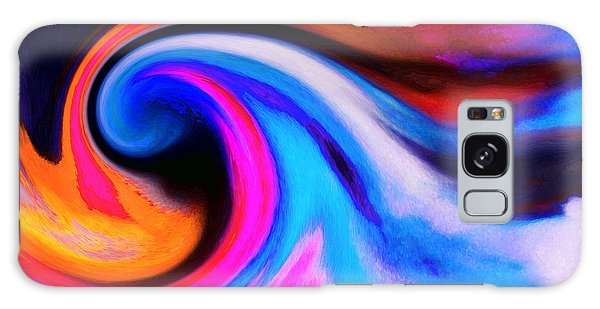 Caught Curl Galaxy Case by Expressionistart studio Priscilla Batzell