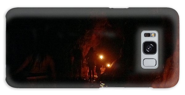 Caving With Candles And Cutoffs Galaxy Case