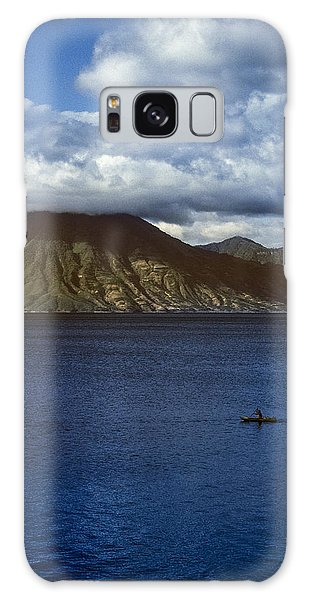 Cayuco On Lake Atitlan Galaxy Case