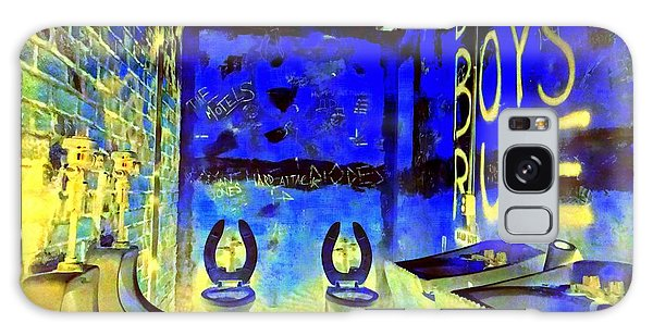 Cbgb's Notorious Mens Room Galaxy Case by Ed Weidman