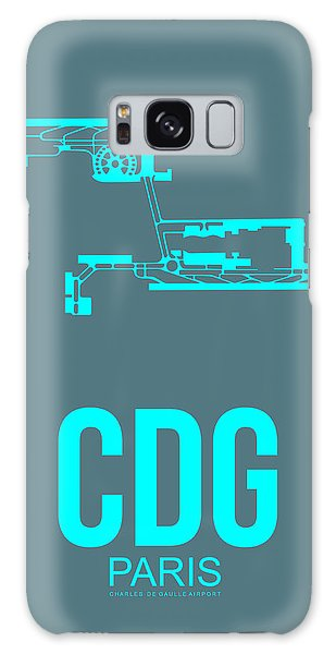 Cdg Paris Airport Poster 1 Galaxy Case by Naxart Studio