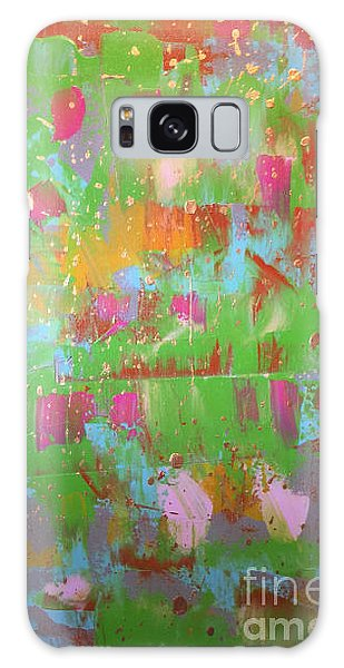 Celebration In Green Galaxy Case by Theresa Kennedy DuPay