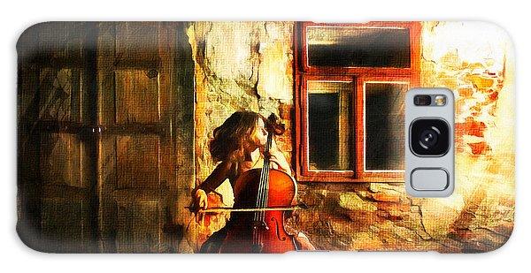 Cellist By Night Galaxy Case