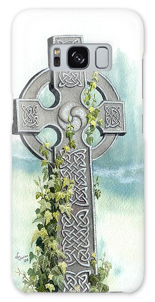 Celtic Cross With Ivy II Galaxy Case