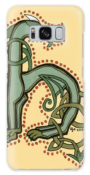 Celtic Dragon Manuscript H Galaxy Case