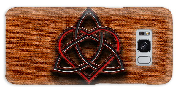 Celtic Knotwork Valentine Heart Canvas Texture 1 Horizontal Galaxy Case