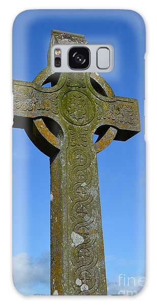 Celtic Stone Cross In Ireland Galaxy Case