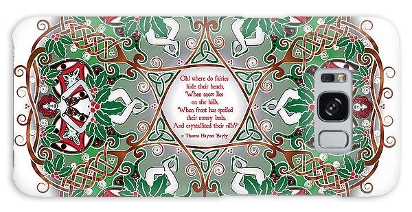 Celtic Winter Fairy Mandala Galaxy Case