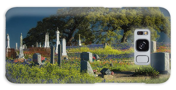 Cemetery Wildflowers Galaxy Case