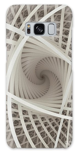 Centered White Spiral-fractal Art Galaxy Case
