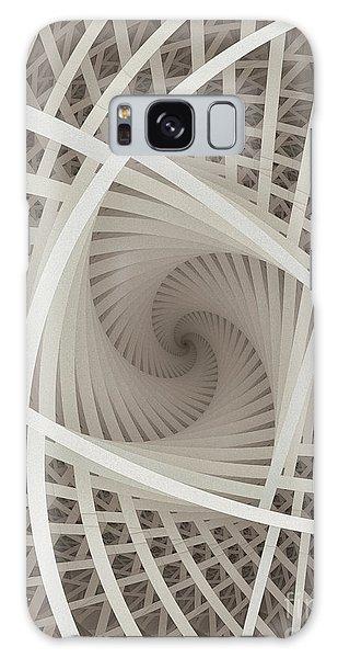 Centered White Spiral-fractal Art Galaxy Case