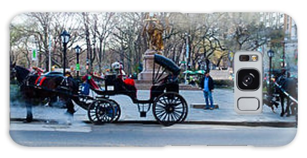 Central Park Horse Carriage Station Panorama Galaxy Case