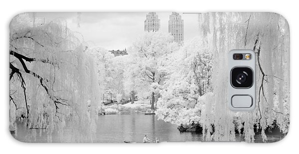 Galaxy Case featuring the photograph Central Park Lake-infrared Willows by Dave Beckerman