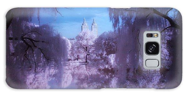 Central Park Lake Willows Color Galaxy Case