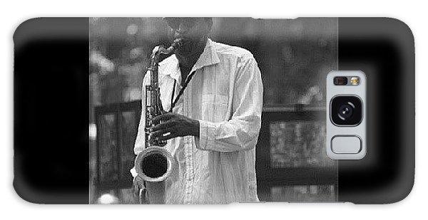 Celebrities Galaxy Case - Central Park Sax by Aaron Kremer