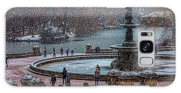 Central Park Snow Storm Galaxy Case