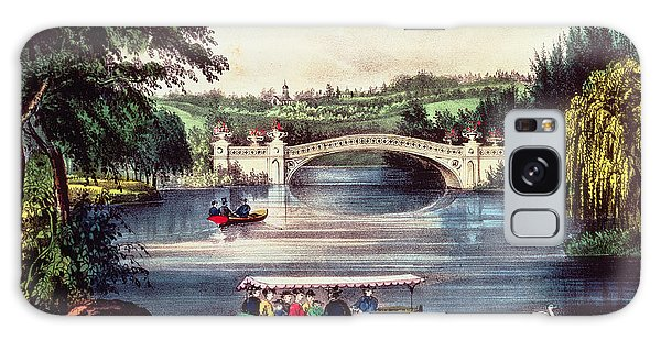 Central America Galaxy Case - Central Park   The Bridge  by Currier and Ives