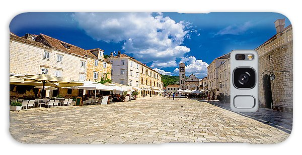 Central Pjaca Square Of Hvar Town Galaxy Case by Brch Photography