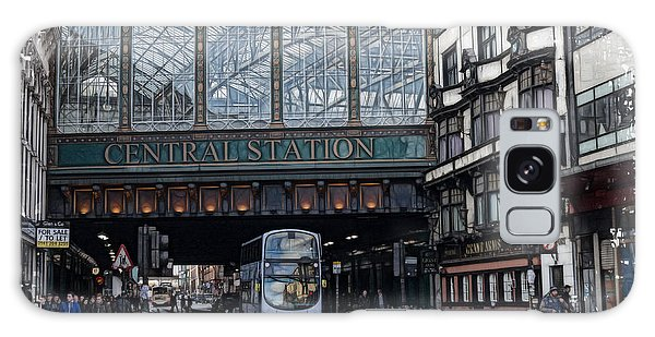 Central Station Glasgow Galaxy Case by Fiona Messenger