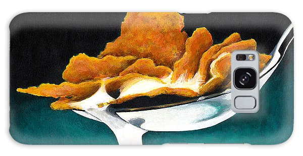 Cereal In Spoon With Milk Galaxy Case by Janice Dunbar