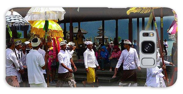Ceremony At Lake Beratan Bali Galaxy Case
