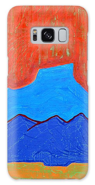 Cerro Pedernal Original Painting Sold Galaxy Case