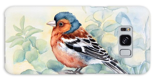 Chaffinch In Grass Galaxy Case