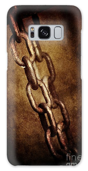 Rusty Chain Galaxy Case - Chains by Jelena Jovanovic