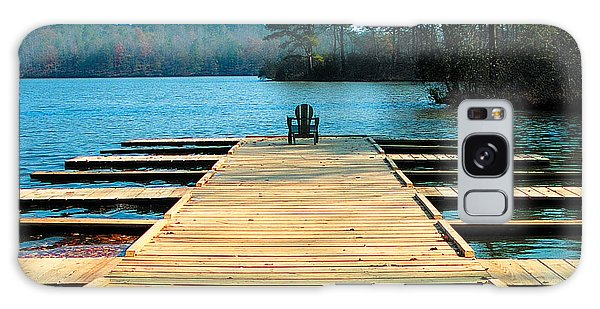 Chair On Dock By Jan Marvin Galaxy Case
