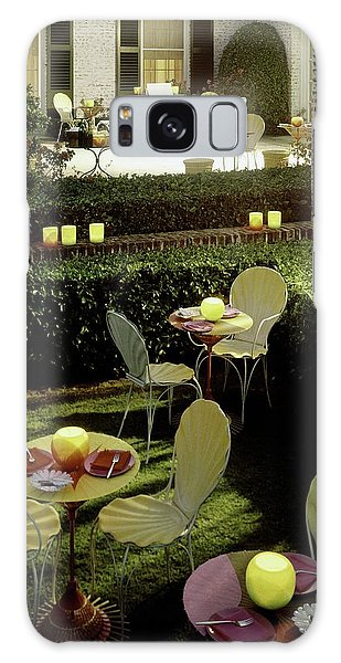 Chairs And Tables In A Garden Galaxy Case