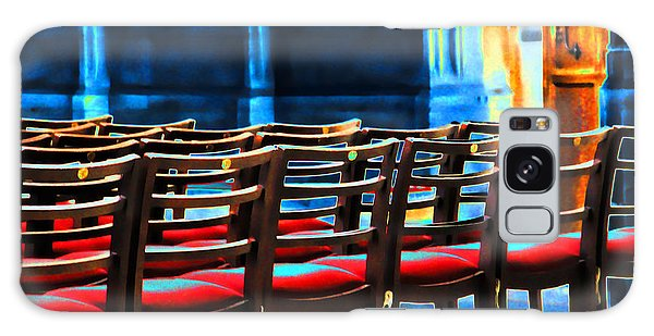 Chairs In Church Galaxy Case by Oscar Alvarez Jr
