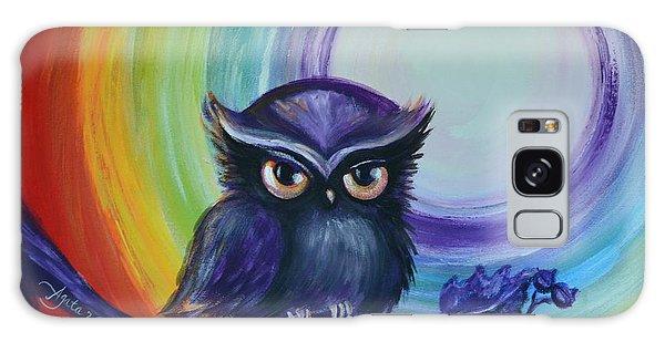 Chakra Meditation With Owl Galaxy Case by Agata Lindquist