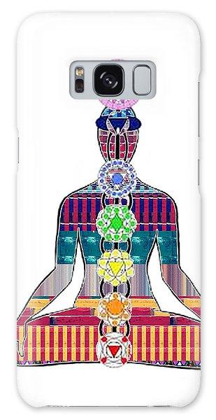 Chakra Yoga Mandala  Buy Faa Print Products Or Down Load For Self Printing Navin Joshi Rights Manage Galaxy Case