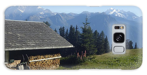 Chalet In The Swiss Alps Bettmeralp Switzerland Galaxy Case by Matthias Hauser