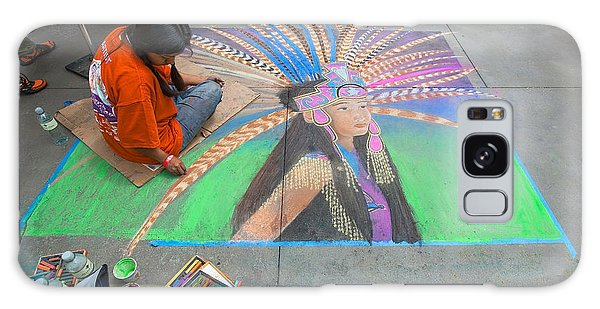 Pasadena Chalk Art - Street Photography Galaxy Case by Ram Vasudev