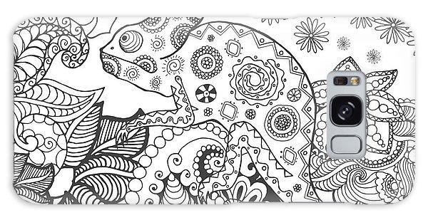 Indian Head Galaxy Case - Chameleon In Fantasy Forest. Animals by Palomita