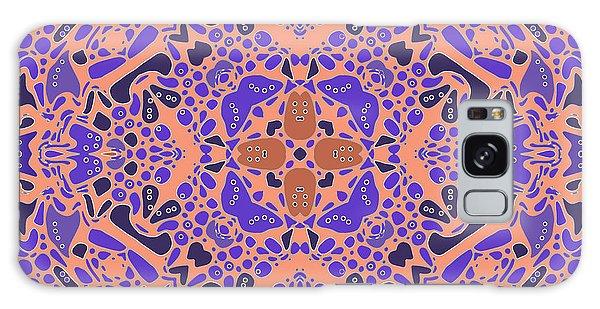 Galaxy Case featuring the digital art Chandra Periwinkle Edges Kaleidoscope by Joy McKenzie