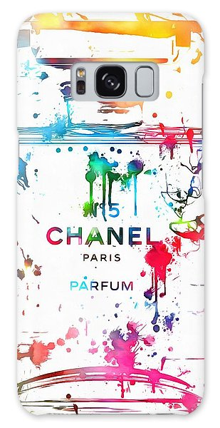 Chanel Number Five Paint Splatter Galaxy Case