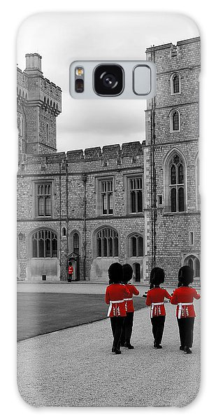 Changing Of The Guard At Windsor Castle Galaxy Case