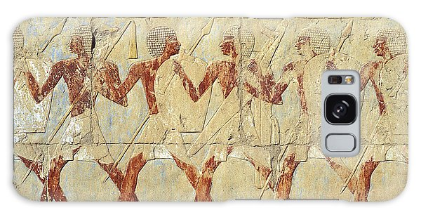 Chapel Of Hathor Hatshepsut Nubian Procession Soldiers - Digital Image -fine Art Print-ancient Egypt Galaxy Case